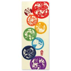 Tenugui-Japanese seven gods of happiness