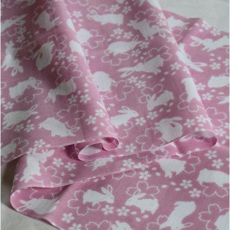 Tenugui SAKURA USAGI japanese fabric