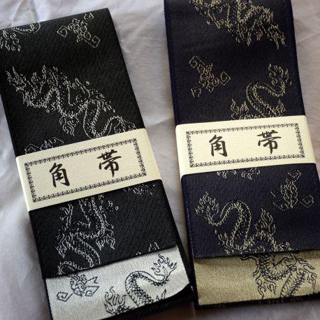 Kakuobi Dragon iaido belt aikido obi
