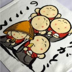 serviette eponge japonais