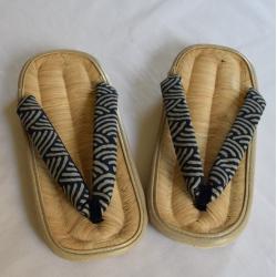 Japanese bamboo flip flops