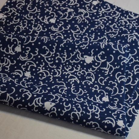 Tenugui Chidori dark blue